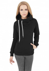 Dámska mikina URBAN CLASSICS Ladies Raglan High Neck Hoody black