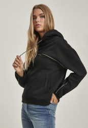 Dámska mikina Urban Classics Ladies Reflective Hoody čierna
