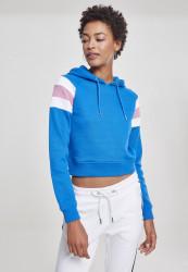 Dámska mikina URBAN CLASSICS Ladies Sleeve Stripe Hoody brightblue/white/coolpink
