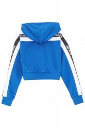 Dámska Modrá crop top mikina Sixth June Logo Tape Hoodie Farba: Modrá, #8