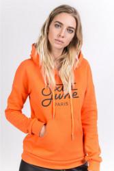 Dámska oranžová mikina s kapucňou Sixth June Logo