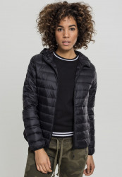 Dámska prechodná bunda URBAN CLASSICS Ladies Basic Hooded Down Jacket black