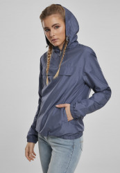 Dámska prechodná bunda URBAN CLASSICS Ladies Basic Pull Over Jacket vintageblue