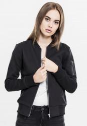 Dámska prechodná bunda URBAN CLASSICS Ladies Sweat Bomber Jacket čierna