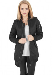 Dámska predĺžená bombera URBAN CLASSICS LADIES LONG BOMBER JACKET BLACK