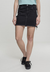 Dámska riflové sukňa URBAN CLASSICS Ladies Denim Lace Up Skirt black