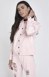 Dámska ružová riflová bunda Sik Silk