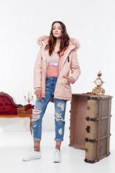 Dámska ružová zimná bunda Sixth June