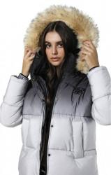 Dámska šedá zimná bunda Sik Silk