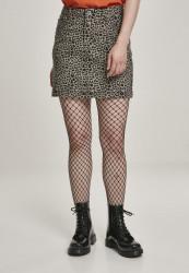 Dámska sukňa URBAN CLASSICS  Ladies AOP Twill Mini Skirt grey leo