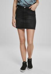 Dámska sukňa URBAN CLASSICS Ladies Denim Skirt real black washed