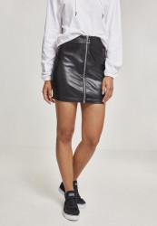 Dámska sukňa URBAN CLASSICS Ladies Faux Leather Zip Skirt black