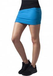 Dámska sukňa URBAN CLASSICS Ladies French Terry Skirt turquoise