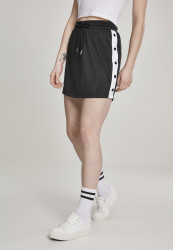 Dámska sukňa URBAN CLASSICS Ladies Track Skirt blk/wht/blk