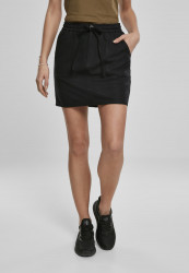 Dámska sukňa URBAN CLASSICS Ladies Viscose Twill Skirt black