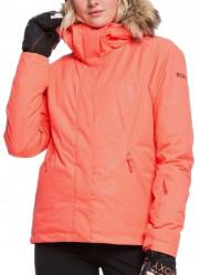 Dámska zimná bunda Roxy Jet Ski Solid living coral arrow feel emboss