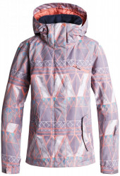 Dámska zimná bunda Roxy Jetty minimal grey mosaic