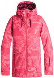 Dámska zimná bunda Roxy Valley Hoodie tea berry washed floral