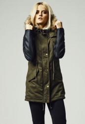 Dámska zimná bunda URBAN CLASSICS LADIES LEATHER IMITATION
