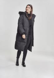 Dámska zimná bunda URBAN CLASSICS Ladies Oversize Faux Fur Puffer Coat blk/blk