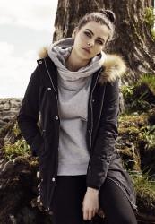Dámska zimná bunda Urban Classics Ladies Sherpa Lined Peached Parka black