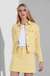 Dámska žltá riflová bunda Urban Bliss Farba: Žltá,