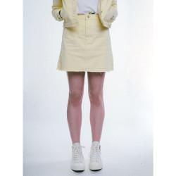 Dámska žltá riflová sukňa Urban Bliss Farba: Žltá,
