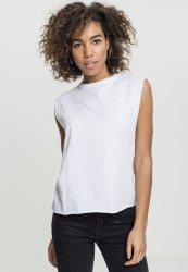 Dámske biele tielko Urban Classics Ladies Jersey Lace Up Top