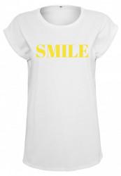 Dámske biele tričko MR.TEE Ladies Smile Tee Farba: white,