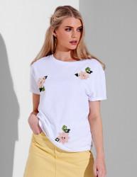 Dámske biele tričko s krátkym rukávom Urban Bliss Farba: Biela,