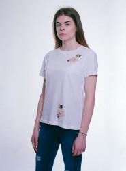 Dámske biele tričko s krátkym rukávom Urban Bliss