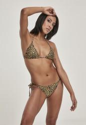 Dámske bikiny URBAN CLASSICS Ladies Animal Bikini leo