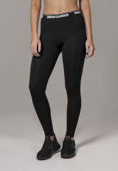 Dámske čierne legíny URBAN CLASSICS Ladies Logo Leggings
