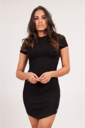Dámske čierne šaty Sixth June Short