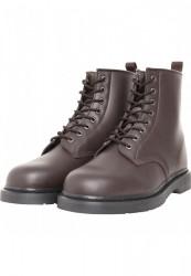 Dámske členkové topánky Urban Classics Heavy Lace Boot burgundy