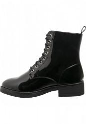 Dámske členkové topánky Urban Classics Lace Boot black #1