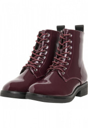 Dámske členkové topánky Urban Classics Lace Boot burgundy