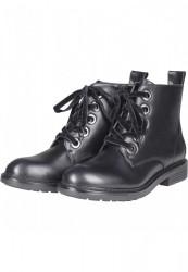 Dámske členkové topánky Urban Classics Velvet Lace Boot black