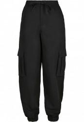 Dámske kapsáčové nohavice URBAN CLASSICS Ladies Viscose Twill Cargo Pants black