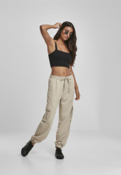Dámske kapsáčové nohavice URBAN CLASSICS Ladies Viscose Twill Cargo Pants concrete