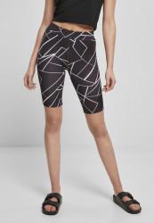 Dámske kraťasy Urban Classics Ladies AOP Cycle geometric black