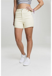 Dámske kraťasy Urban Classics Ladies Highwaist Stretch Twill Shorts powderyellov