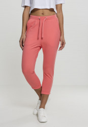 Dámske kraťasy Urban Classics Ladies Open Edge Terry Turn Up Pants coral
