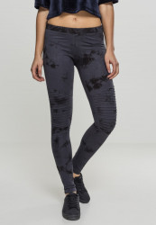 Dámske  legíny URBAN CLASSICS Ladies Biker Batik Leggings darkblue/black