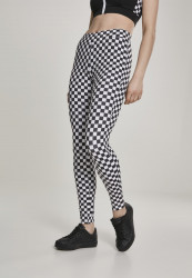 Dámske legíny URBAN CLASSICS Ladies Check Pattern Leggings chess