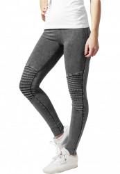 Dámske legíny URBAN CLASSICS Ladies Denim Jersey Leggings darkgrey