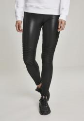 Dámske legíny URBAN CLASSICS Ladies Faux Leather Biker Leggings black