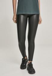 Dámske legíny URBAN CLASSICS Ladies Faux Leather High Waist Leggings black
