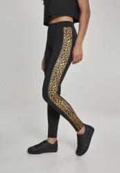 Dámske legíny URBAN CLASSICS Ladies Side Striped Pattern Leggings blk/leo