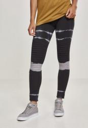 Dámske legíny URBAN CLASSICS Ladies Striped Tie Dye Biker Leggings